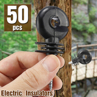1050pcs Wood Post Ring Insulator Tape Screw In Electric Fencing Fence Cord Wire
