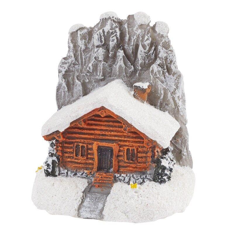 1x Miniatur Berghütte winterlich 4cm wandern Geldgeschenk Gutschein Deko (850