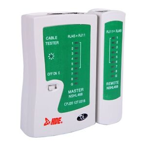 HDE Network Cable Tester w/ Carrying Case