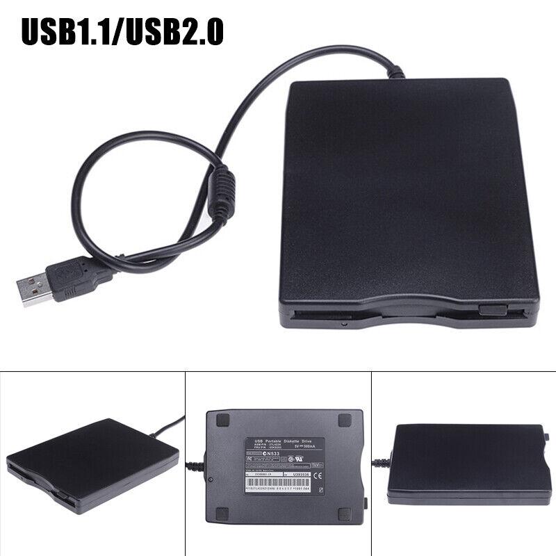 как выглядит New USB External Floppy Disk Drive Portable Reader for Laptop PC/MAC/Windows 10 фото