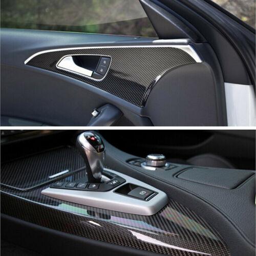 Car Parts - Parts Accessories Car Interior Panel Black Carbon Fiber Vinyl Wrap Stickers 7D