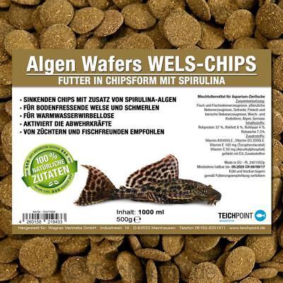 PREMIUM Futtertabletten Algen-Wafers 1000 ml, Aquarium Futter braun Wels Chips