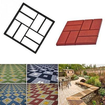 Crazy Driveway Concrete Paving Patio Garden Path Maker Brick Floor Tile Diy Mold