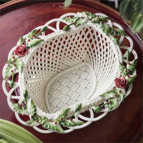Belleek Winter Flower Basket