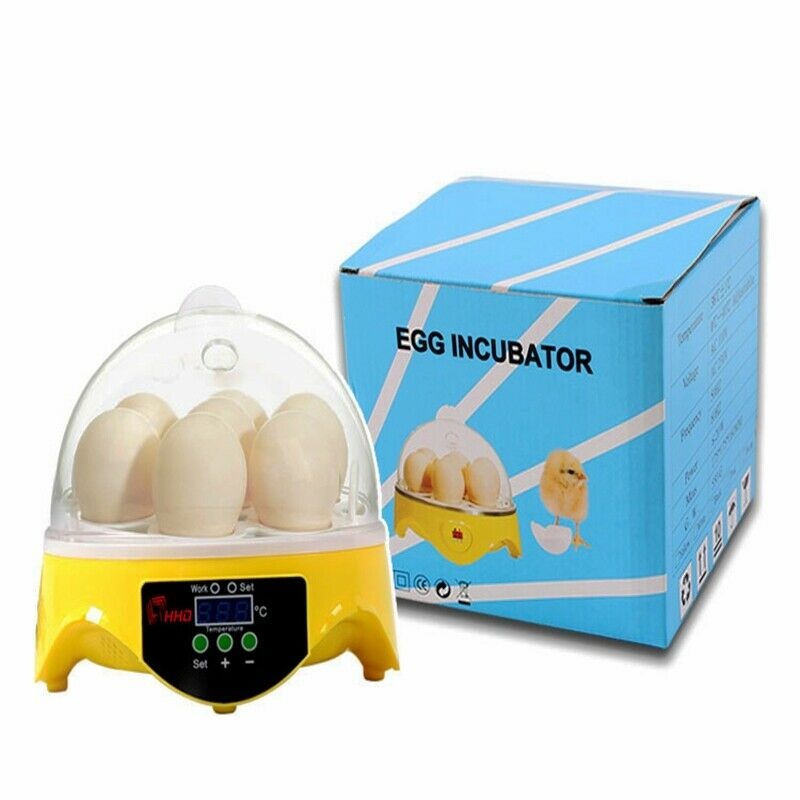 US 110V 7 Poultry  Eggs Incubator Chicken Hatcher Digital Temperature Control