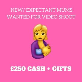 New/ Expectant mums wanted for video shoot (£250 CASH + gifts for grabs!)