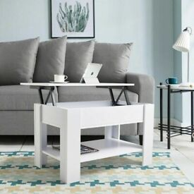LIFT TOP WOODEN COFFEE TABLE WITH STORAGE