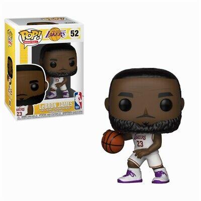 Lebron James White Jersey NBA L.A. Lakers POP! Basketball #52 Vinyl Figur Funko ()