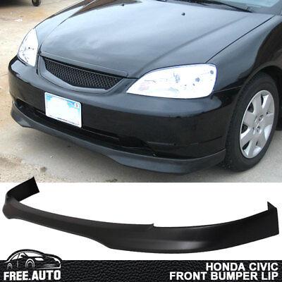 - Fits 01-03 Honda Civic 2/4Dr Coupe Sedan T-R Front Bumper Lip Spoiler Bodykit