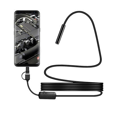 Waterproof Hd 2m7mm Endoscope Lens Mini Usb Inspection Camera With Led Lights