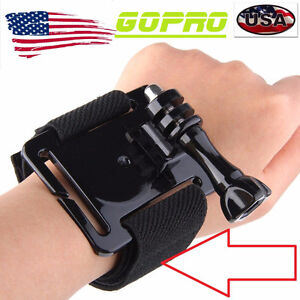 GoPro 4/3+/3/2/1 Wrist Strap Band Mounture+Support+Screw / NEUF