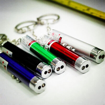 2 In 1 Laser Lazer Pointer Pen Led Torch Pet Dog Toy Brand New