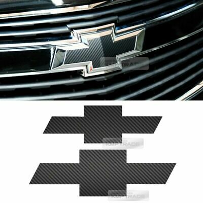 Front Rear Black Carbon Emblem Badge Decal Sticker For CHEVROLET 2008-2012 Cruze