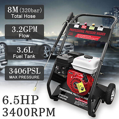 6.5HP Adjustable Gasoline Powered High Pressure Washer Cleaner Petrol Water Pump