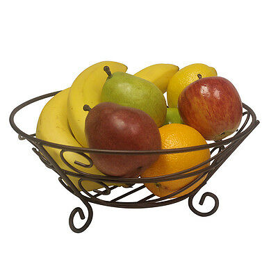 11″ Classic Bronze Steel Wire Kitchen Counter Fruit Vegetable Basket Home & Garden