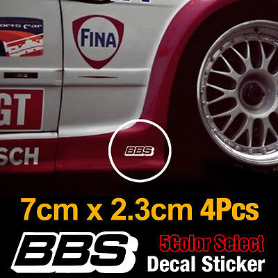 BBS Speed Mania Fashion Decal Sticker 70mm x 23mm (4Pcs) For All Vehicles