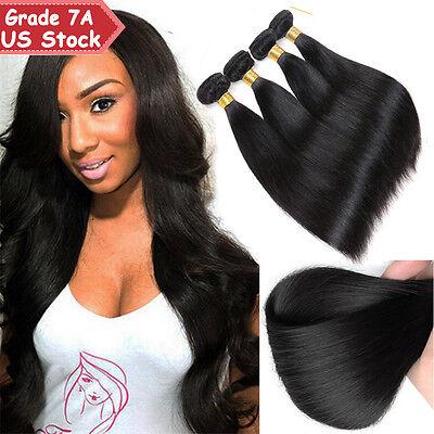 300g THICK 3 Bundles 7A 100% Unprocessed Virgin Human Hair Brazilian Peruvian