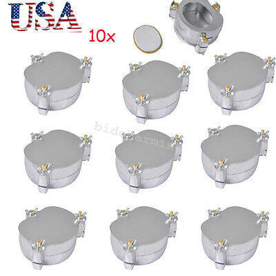 10x Dentist Dental Usaaluminium Denture Flask Compressor Parts Lab Equipment
