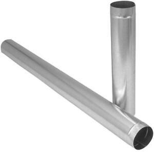 "10"" Pipe 5 Ft , 28 Gauge- Galvanized Steel Pipe"