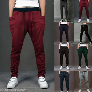 MEN-Women-CASUAL-JOGGER-Dance-Harem-Sport-Pants-Baggy-SLACKS-Trousers-SWEATPANTS