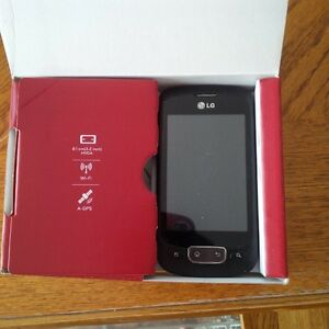 LG Android Black and red phone