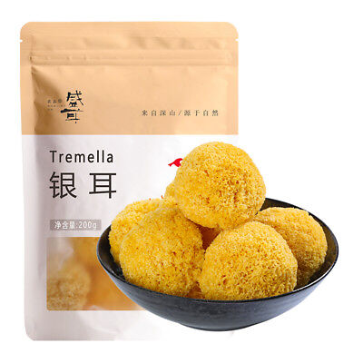 Organic Tremella Dried mushrooms white fungus Silver Ear Chinese specialty 218g