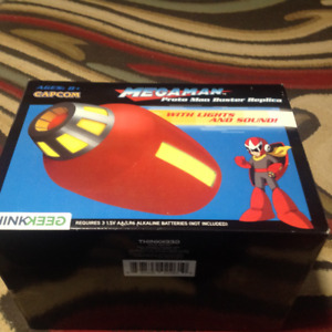 Think Geek Megaman Proto Man Buster Working Replica New in Box