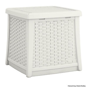 Suncast ELEMENTS® End Table with Storage, White