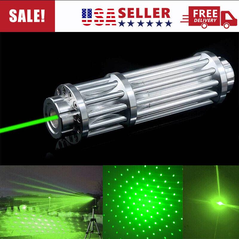 1000Miles 532nm Green Laser Pointer Pen Visible Beam Light Zoom Focus Lazer USA