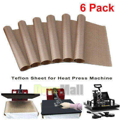 6xteflon Transfer Sheets For Heat Press Non Stick Iron Resistant Reusable 16x24