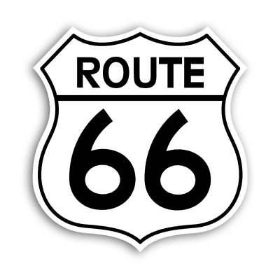 Route 66 RT Highway Road Sign Decal Classic Car Cruising Sticker Hot Rod America
