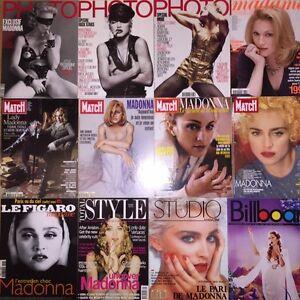 Collection de couvertures de magazines laminées 8½X11 de Madonna
