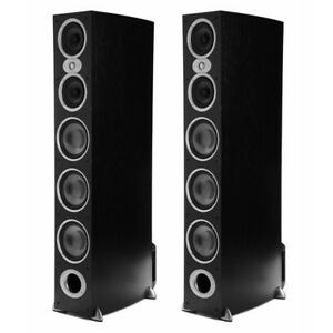 Polk Audio RTIA9 500-Watt Floorstanding Speaker - Black - Pair