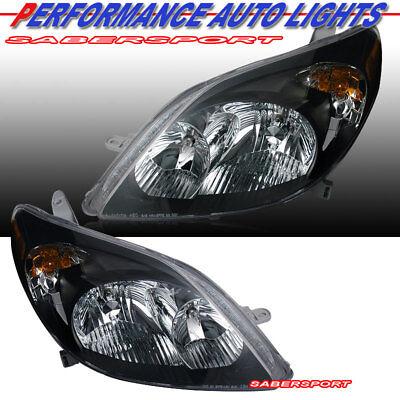 Set of Pair OE Style Black Housing Headlights for 2003-2008 Toyota Matrix