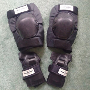 4 PIECES FREE SPIRIT SKATE PROTECTION GEAR