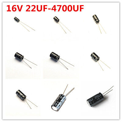 20pcs 16v 22-4700uf 47 100 220 330 470 680 1000 2200 Uf Electrolytic Capacitor