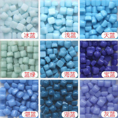 200pcs DIY Vitreous Glass Mosaic Tiles Wall Crafts 50g Mixes Optic Drops Tools - Mosaic Crafts