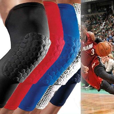 Soft Long Sleeve Gym Leg Protector Crashproof Basketball Knee Gear Honeycomb Pad