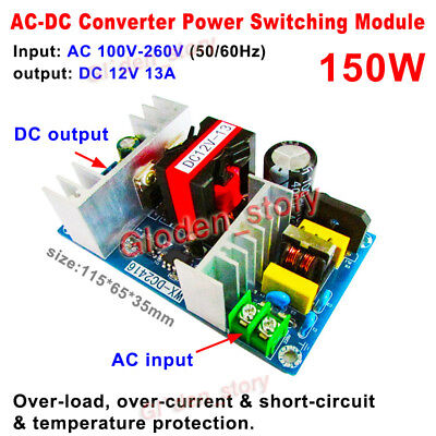 Ac-dc Converter 110v 220v 230v To 12v 13a Isolated Power Switching Transformer