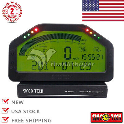 SINCOTECH Dash Race Display - FULL SENSOR kit, Dashboard LCD Gauge Rally AIM #US