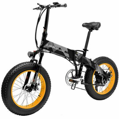 LANKELEISI Bicicleta Eléctrica plegable 48V 1000W Fat Tire Bicicleta De Montaña