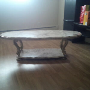 Marble tables set of three