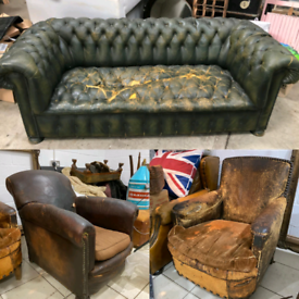 Antique Armchairs & Sofa's Sold As Seen Or Restored For You