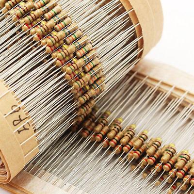 75values Carbon Film Resistor Assorted Kit Set 1500pcs 14w 1 Ohm 10m Ohm 5