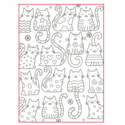 All kinds of cats Scrapbook photo rubber stamp clear stamp transparent Handmade