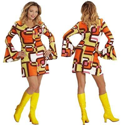 GROOVY GIRL Hippie Babe Damen Kostüm  60er - Hippie Kleider Kostüm