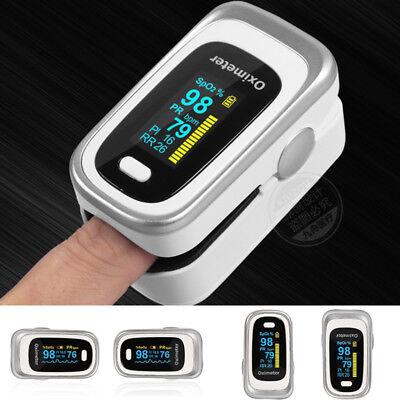 Finger Pulse Oximeter Spo2 Pr Pi Rr Sleep Monitor 8 Hours Care Oled Screen New