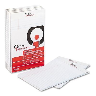 Office Impressions Perforated Pad Legal Rule 5 X 8 50-sheet Pads 24-pack