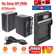 8.7AH Li-ion NP-F960 Battery OR Charger for Sony NP-F970 NP-F330 NP-F550 NP-F750
