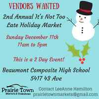 WANTED: Vendors for 2nd Annual Shopping Event!